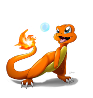 :Redo: Charmander and a Bubble by Cattensu