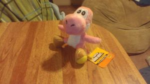 Pink Yoshi Plush Keychain by PokeLoveroftheWorld