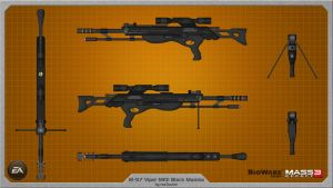 M-97 Viper MKII Black Mamba by rex3cutor