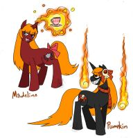 Ponified OCs-Madeline+Pumpkin by Inkblot-Rabbit
