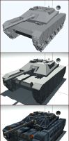 Low poly tank in stages. by akdesignstudios
