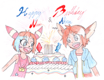 Neon and Akira's belated B-Day by Thwill
