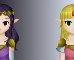A Link Between Worlds: Zelda+Hilda by Icy-Snowflakes