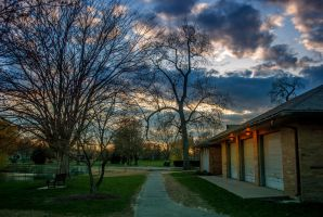 Fort Wayne Spring Sunset II by redwolf518