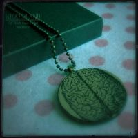 WICKEDLAND Off With Your Head Handmade Pendant by SugarAndSpiceDIY