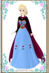 Elsa Frozen paper doll coronation dress movie by Lady--knight