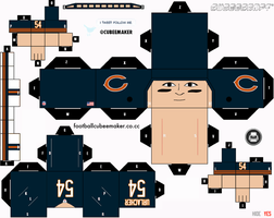 Brian Urlacher Bears Cubee by etchings13