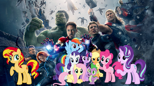 Avengers and Ponies assemble by YugiohPonyAvengers