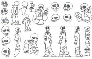 Concept Sketches - SKELTON by cartoonjunkie