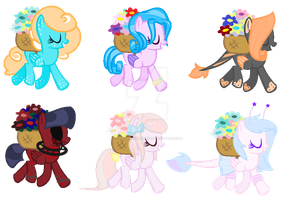 Flower Picking Pegasi Adopts {OPEN::3/6} by strawberrymeopin