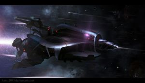 Speedpaint Rocket-Spaceship by Azot2014