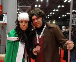 NYCC'12 Rogue and Gambit by zer0guard
