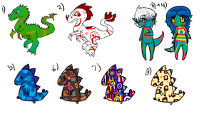 Mixed Adoptables 1 .:OPEN:. by Down-Under-Doptables