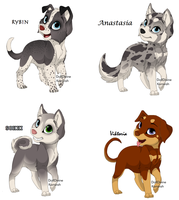 Puppy Point Adoptables by NyamburaDawn