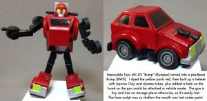 Kitbash: Impossible Toys Bump as pre-Beast Bump by dvandom