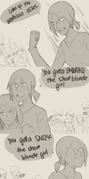 How to impress the short blonde girl. by Sangcoon