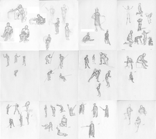 Life Drawing Gesture Compilation by jbyrd117