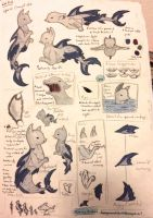 Cat fish concept art notes by BeeTrue