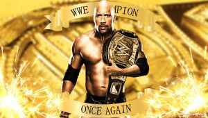 WWE The Rock WWE Champion Once Again Wallpaper by Timetravel6000v2