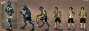 Anubis Transformation Sequence By Sugarpoultry-d50 by sugarpoultry-archive