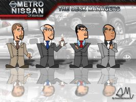 The Metro Nissan Desk Managers by EvlD