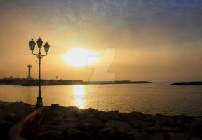 Abu Dhabi Sunset by Netjeret