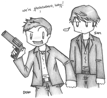 Supernatural - Winchester bros by dongpeiyen1000