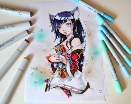 Ahri and Zed plushie by Lighane