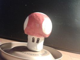 Mario mushroom made from a cork by thecrass1