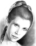 Carrie Fisher 1956-2016 by gregchapin