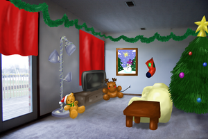 CE: A room for the holidays :3 by LeniProduction