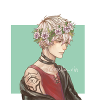 Unknown flower boy TwT + RedBubble link by Mello-rin