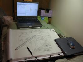 Architectural Drafting by SpasiantasticalMan
