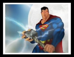 Superman and Mjolnir by Helmsberg
