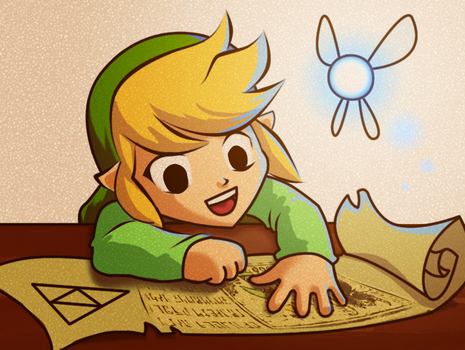 Tiny Little Toon Link by dokugami
