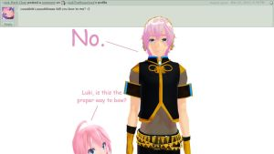 Question 25 for Luka and Luki by AskTheMegurines
