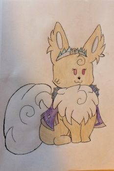 Her royal fluffiness by Starry-the-Jolteon