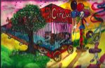 Circus Painting by bluebellangel19smj
