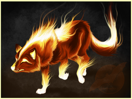 Fire Wolf Design by shorty-antics-27