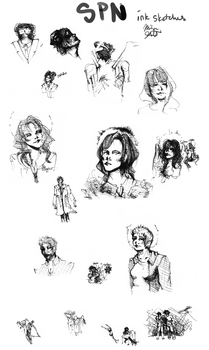 spn ink concept sketches by Cold-Melissa