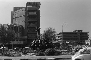Iraq baghdad fountain 1970s by BlackWhitePictures