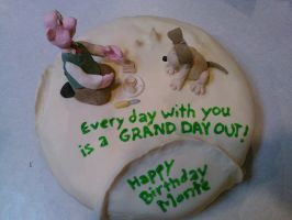 Grand Day Out: Wallace and Gromit cake by MomIsMean