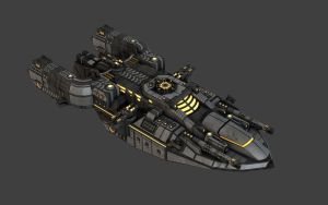Space Frigate View 1 by eRe4s3r