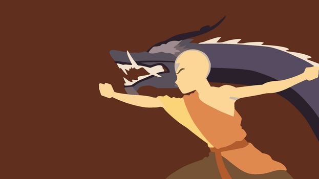 The Dragon Dance - Aang Minimalist Wallpaper by DamionMauville