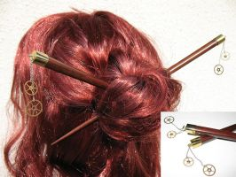 Steampunk Hairsticks by Utinni