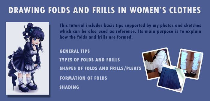 Drawing folds and frills in women's clothes by Red-Priest-Usada