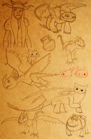 HTTYD Personal Ref/ Doodle dump by The-3Dan