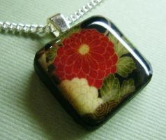 Chiyogami Necklace by luminarydreams