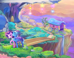 Starlight Glimmer and Trixie Full by viwrastupr