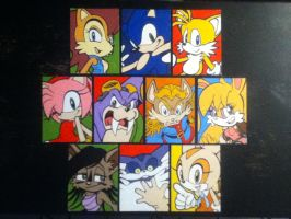 Knothole Freedom Fighters paintings by TheScarecrowOfNorway